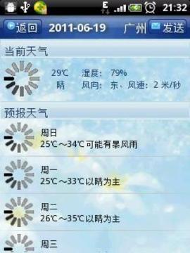 城市天气通截图
