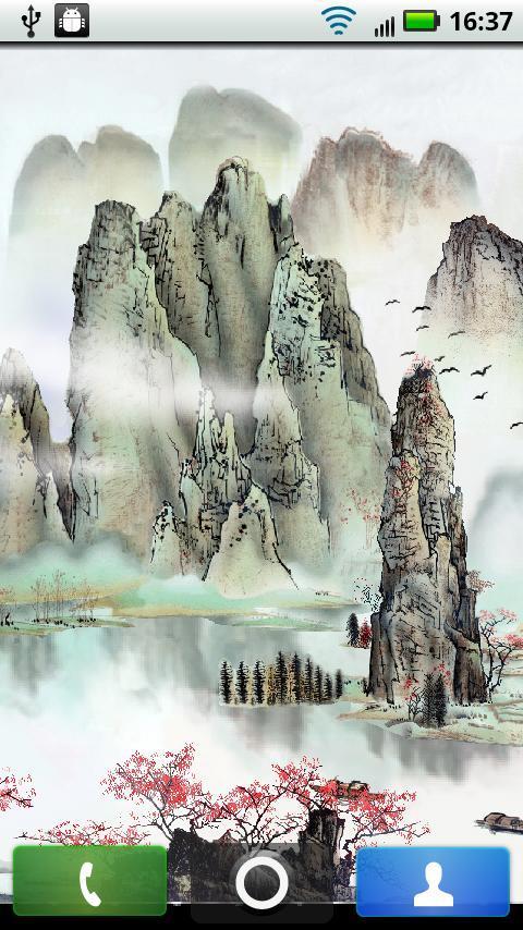 中国山水画动态桌面下载图片