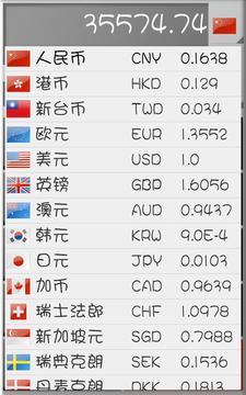 出国货币换算截图