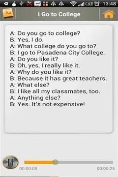 简单的英语对话截图