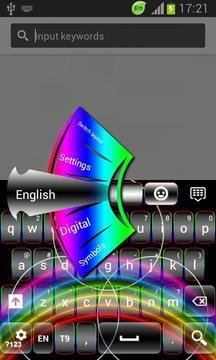 GO Keyboard Neon Rainbow Free截图