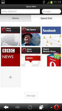 Opera Mini浏览器截图