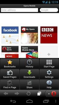 Opera Mobile浏览器 经典版 opera手机浏览器截图