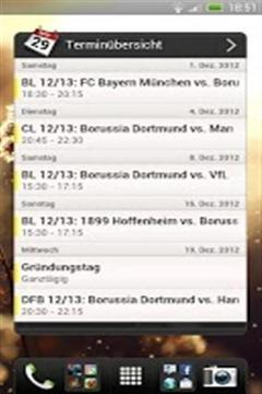 Unoffical BVB Widget截图