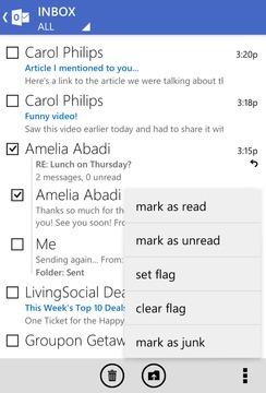 Outlook邮箱截图