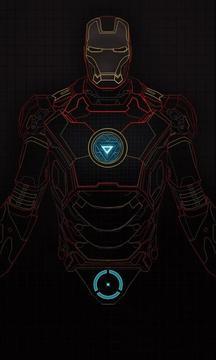 钢铁侠激光锁屏截图