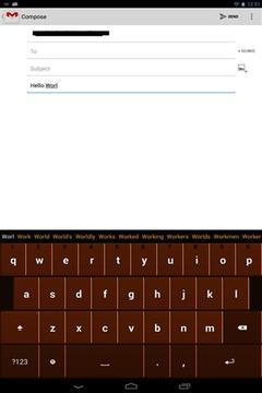 巧克力键盘截图