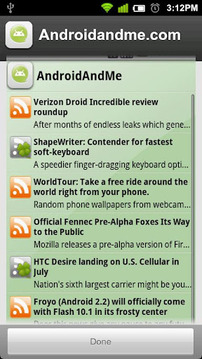 Androidandme.com RSS截图