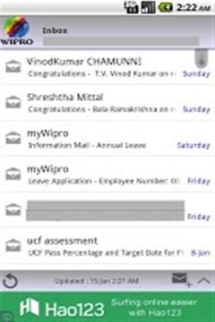 Wipro的邮件截图