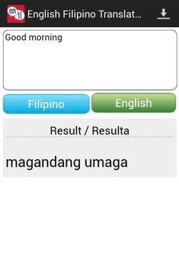 Tagalog English Translator截图