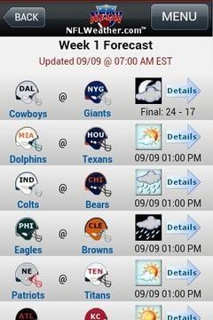 NFLWeather & Scores截图