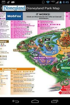 迪士尼乐园度假区地图截图