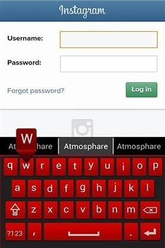 红色键盘免费截图