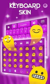 键盘皮肤紫截图