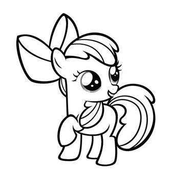 Coloring Pages - Little Pony截图