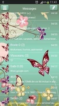 GO短信加强版的蝴蝶截图