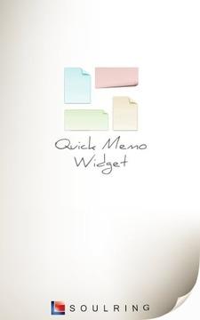 Q-Memo (widget)截图