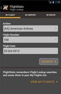 航班查询截图