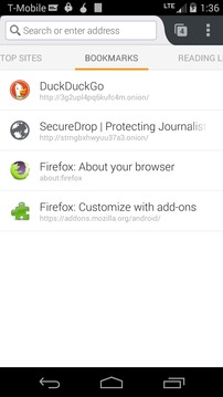 Orfox: Tor Browser for Android截图