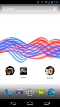 彩色波浪动态壁纸截图