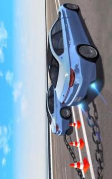 Chained Cars Beam Drive Game截图