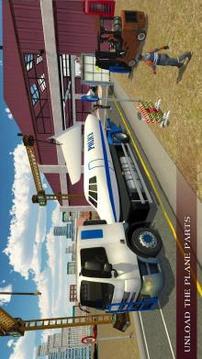 警察飞机建造者:运输者卡车比赛截图