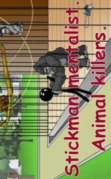 Stickman mentalist. Animals Killer截图