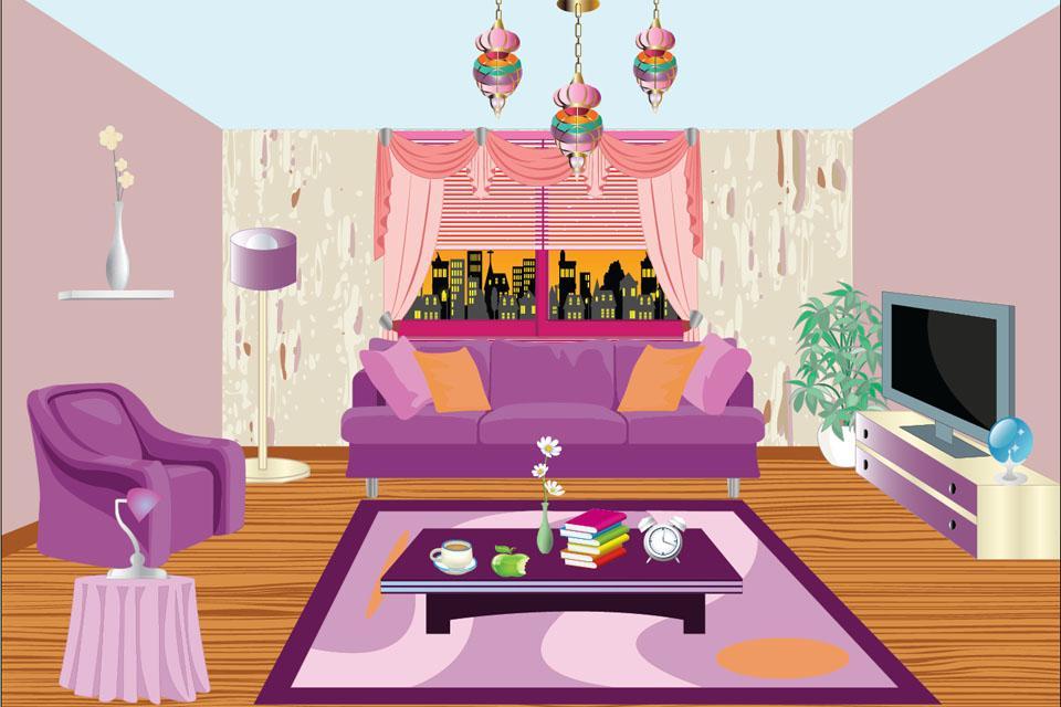 Картинка комнаты нарисованная для детей