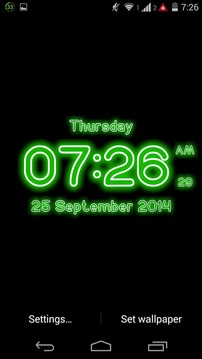 Neon Digital Clock LWP截图
