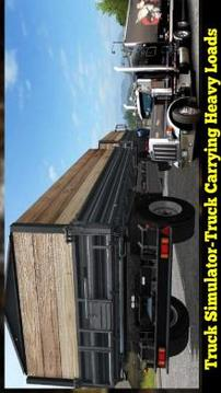Truck Simulator  Truck Carrying Heavy Loads截图