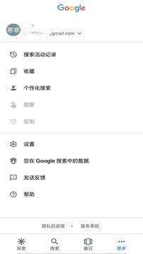 谷歌搜索截图