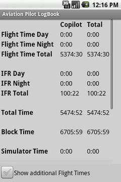 Aviation Pilot LogBook截图