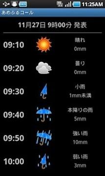 小部件显示天气截图