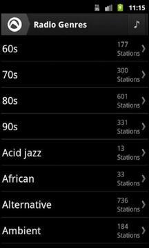 Audials收音机截图