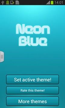 霓虹蓝色键盘GO截图
