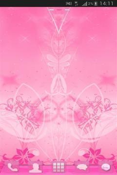 花粉色的主题截图