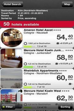 酒店搜索截图