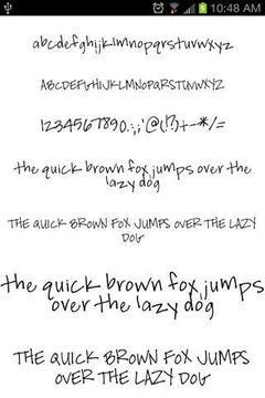 手写字体包截图