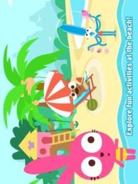 Purple Pink Summer Beach-Kids Party Education App截图