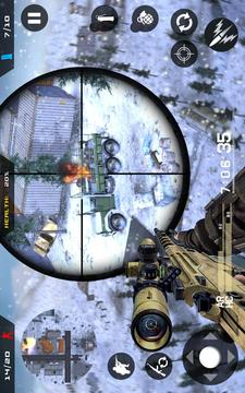 冬季山狙击手 - 现代射击战斗截图