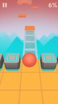 滚动球在天空:休闲滚动游戏截图