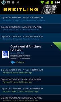 FlightAware 航班跟踪截图