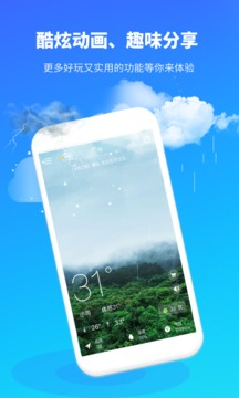 中央天气预报截图