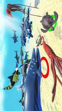 Sea Animal Kingdom Battle Simulator: Sea Monster截图