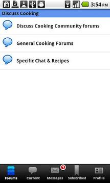 烹饪论坛讨论截图