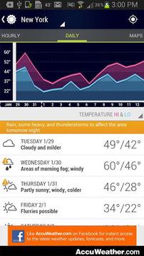 天气预报截图