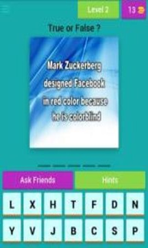 Facebook Quiz App : Social Networking Trivia Game截图