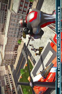 超级英雄飞行机器人救援截图