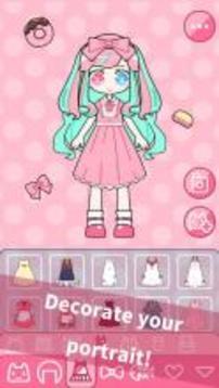 Cute Girl Avatar Maker - dress up fun game截图