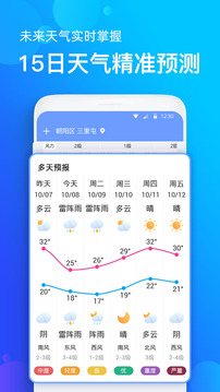 手机天气预报截图